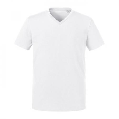 Russell Pure Organic Men Heavy Tee V Neck